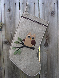 Baby Owl Christmas Stocking