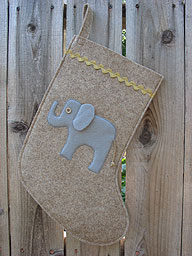 Elephant Christmas Stocking