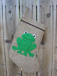 Frog Christmas Stocking