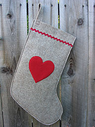 Heart Christmas Stocking