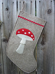 Mushroom Christmas Stocking